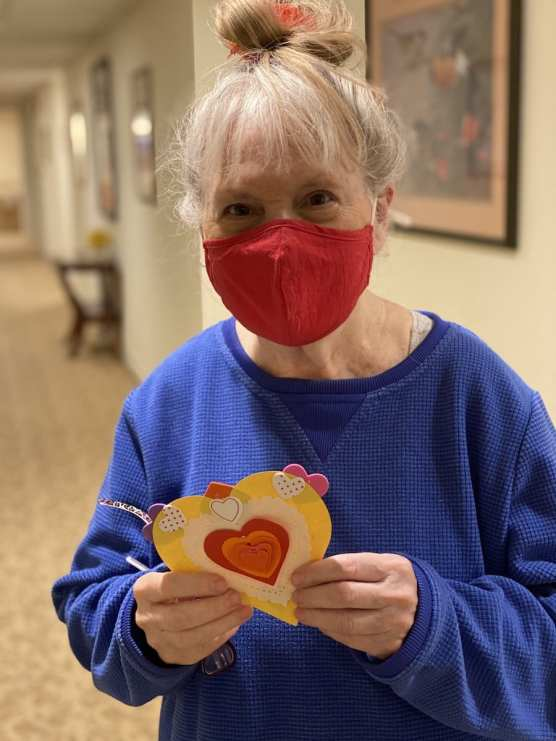 Sunrise Senior Valentine's Card