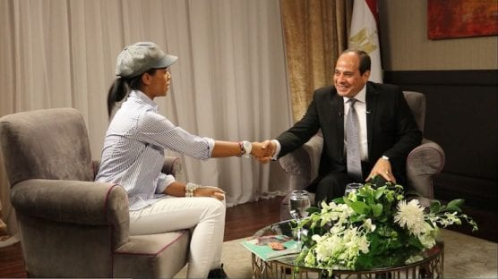 Zurile meets President Abdel Fattah El Sisi