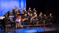 Band members play at West Ranch High School's Theater for the Frank Sinatra 100 performance.