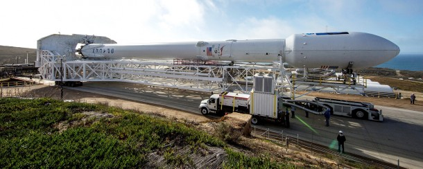 SpaceX Jason-3/Falcon 9 Rollout