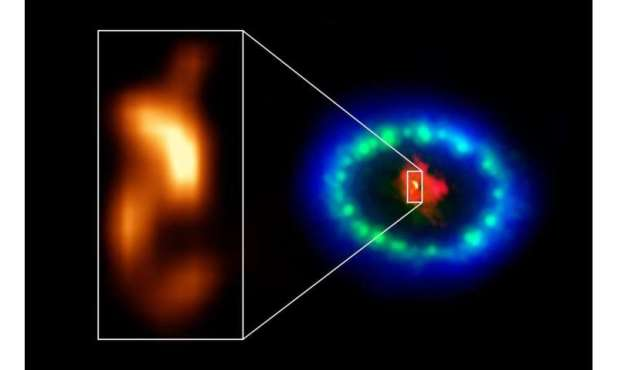 ALMA finds possible signs of neutron star in supernova 1987A