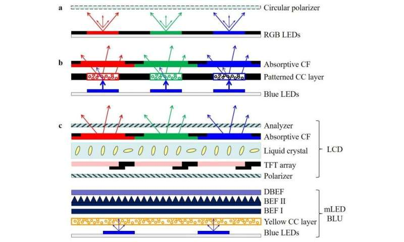 Mini-LED, Micro-LED and OLED displays: Present status and future perspectives