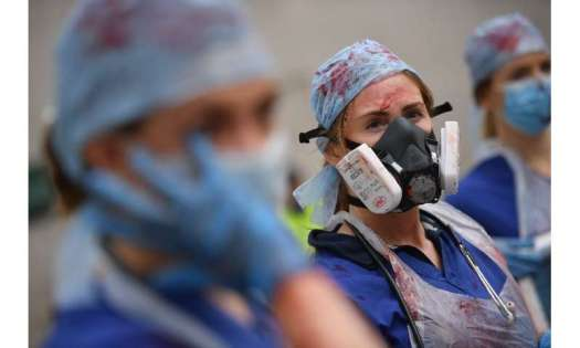 British nurses demonstrated in London for higher pay on Saturday