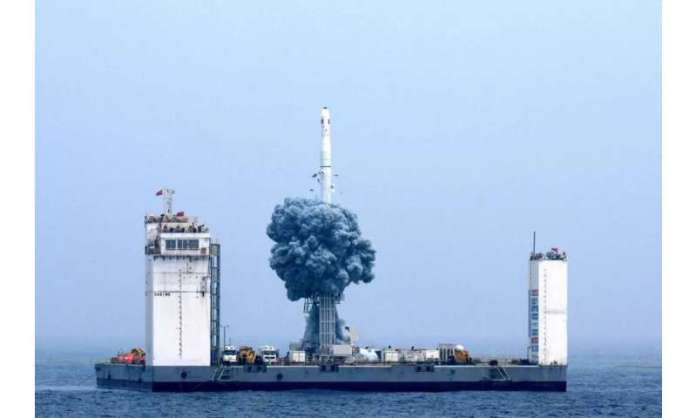 China is building a floating spaceport for rocket launches