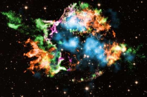 Bubble with titanium sparkle bursts