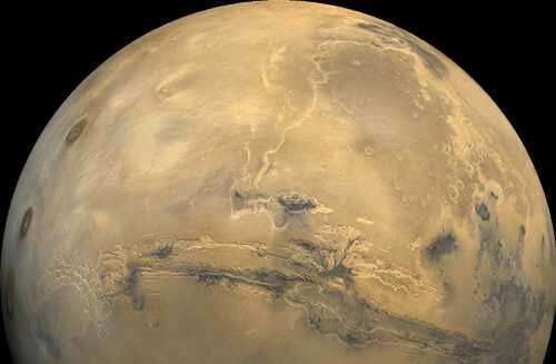 Astronauts bound for Mars will have to travel about 140 million miles (225 million kilometers), depending on where the two plane
