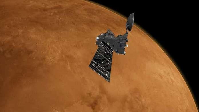 ESA Mars orbiters support NASA Perseverance landing