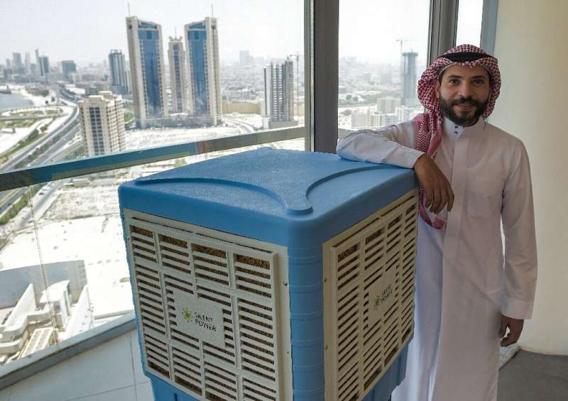 Oil-rich Gulf faces prospect of unlivable heat as planet warms  Mohammed Abdelaal's company Silent Power uses solar technology to cool water tanks