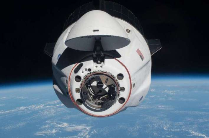 The SpaceX Crew Dragon Endeavour as it approached the International Space Station after launching from Kennedy Space Center in F