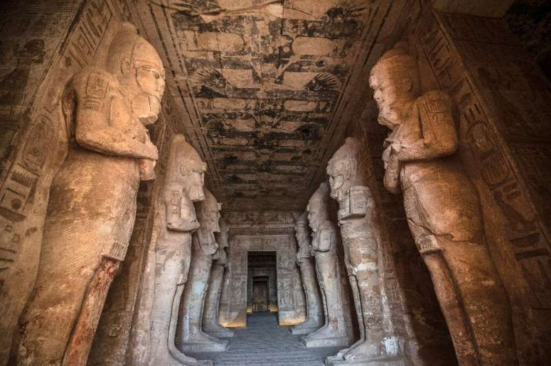 Egypt recalls Aswan 50 years on The Ramses II Temple at the archeological site of Abu Simbel in southern Egypt; the three-millenia old temples were moved in a g
