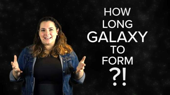 Video: Rotating galaxy disks in the early universe