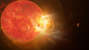 The humung flash of the sun's nearest neighbor breaks records