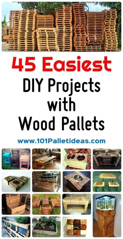 45 Easiest Diy Projects With Wood Pallets You Can Build