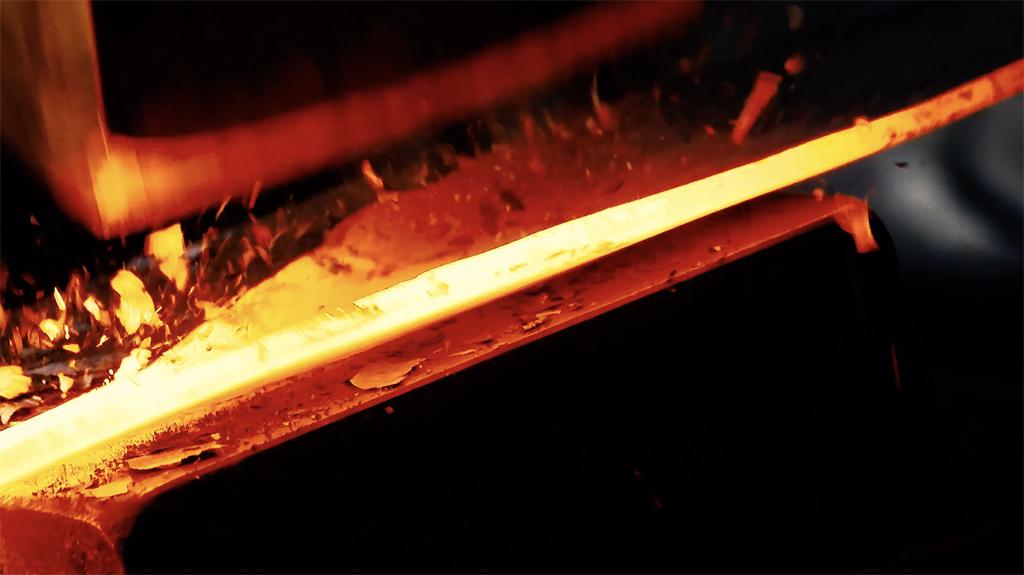 Forging scythe blades