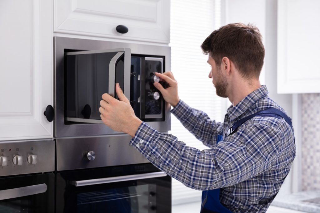 ge profile microwave requires a service
