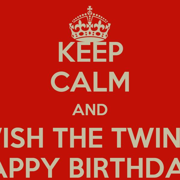 18 Birthday Wishes Twins