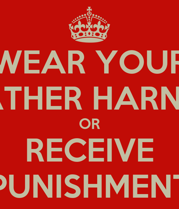 Wear Your Leather Harness Or Receive Punishment Poster