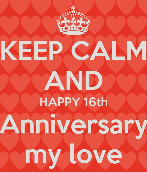 16th Happy Anniversary Banner