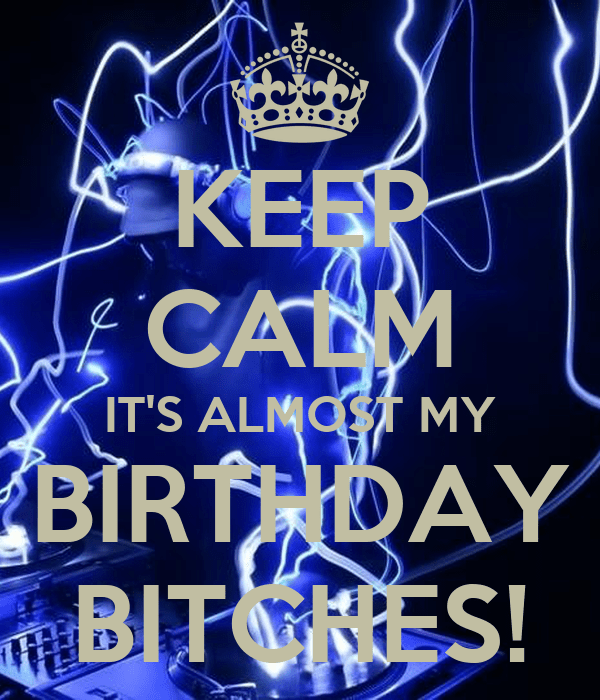 Girls Keep Birthday Quote Calm