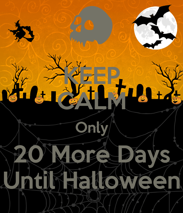 keep calm only 20 more days until halloween poster simpsonmcqueen