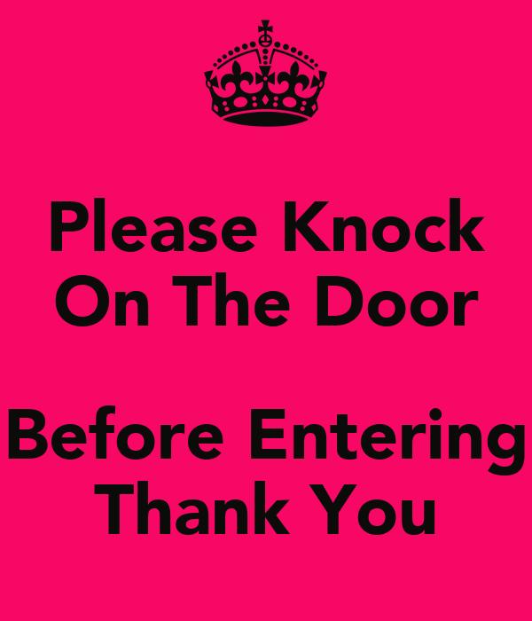 please knock sign printable