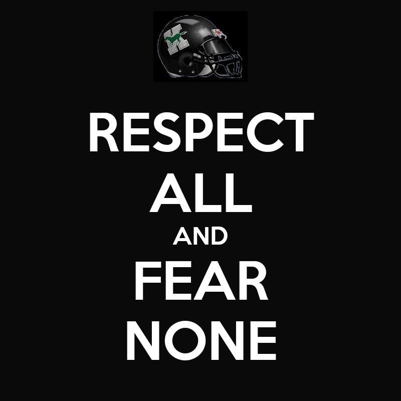 Respect Few Fear None Wallpaper