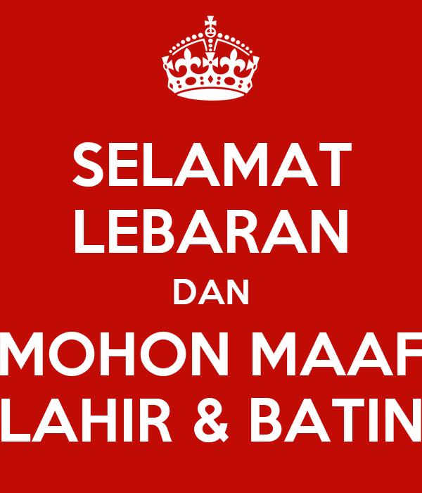 Selamat Lebaran Dan Mohon Maaf Lahir Batin Poster Bayus Keep