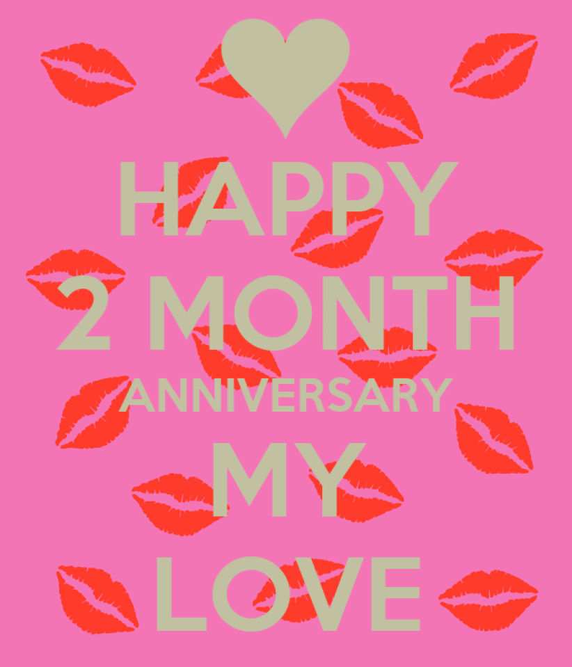 HAPPY 2 MONTH ANNIVERSARY MY LOVE Poster | SHIRLINE | Keep Calm-o-Matic
