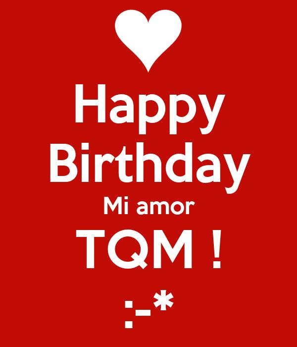 Happy Birthday Mi Amor Tqm Poster Gavi Keep Calm O Matic