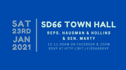 Virtual Town Hall on 1/23
