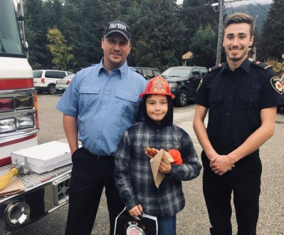 Sicamous fire dept at Parkview