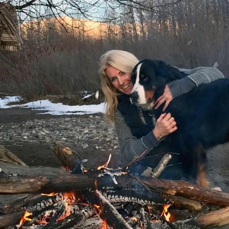 alanna cameron with dog