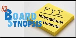 Developing international student program