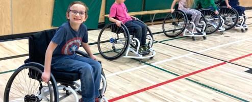"Students are loving ""wheeling"" adapted PE unit"