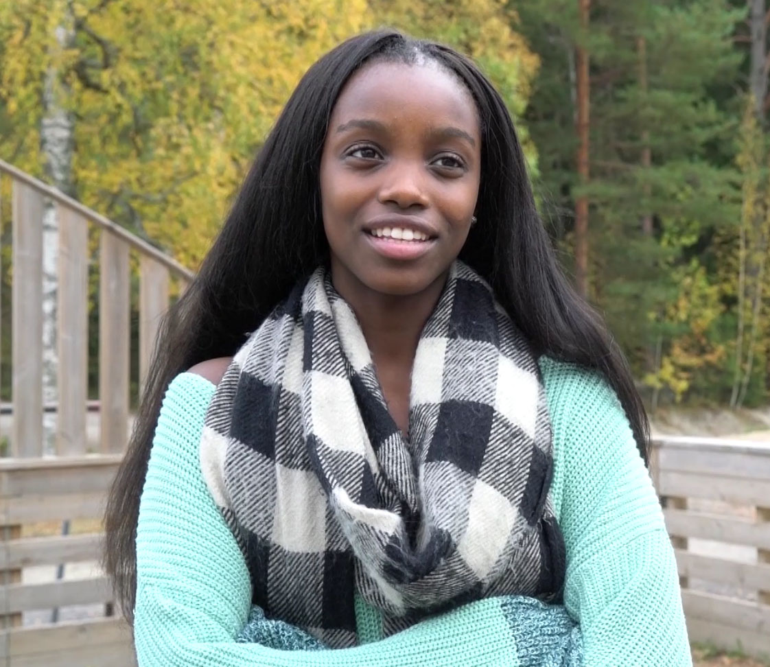 """Fifteen-year-old Sabina agreed.  """"You can talk about your faith very openly here,"""" says Sabina, 15."""