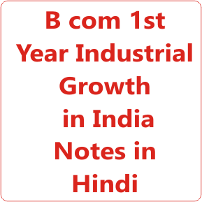 Industrial Growth in India b com 1st Year Notes in Hindi