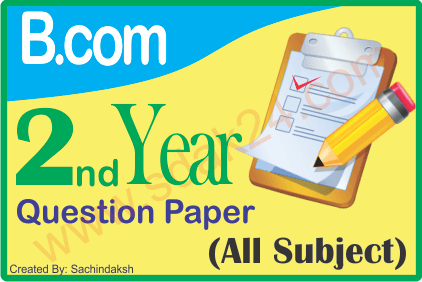 Bcom Question Paper 2nd Year With Answers