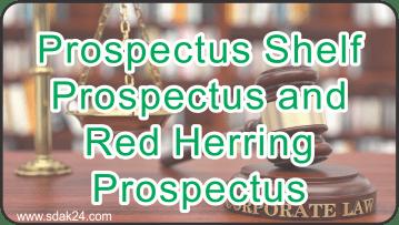 Prospectus Shelf Prospectus andRed Herring Prospectus