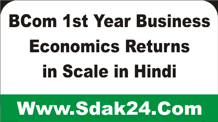 BCom 1st Year Business Economics Returns in Scale in Hindi