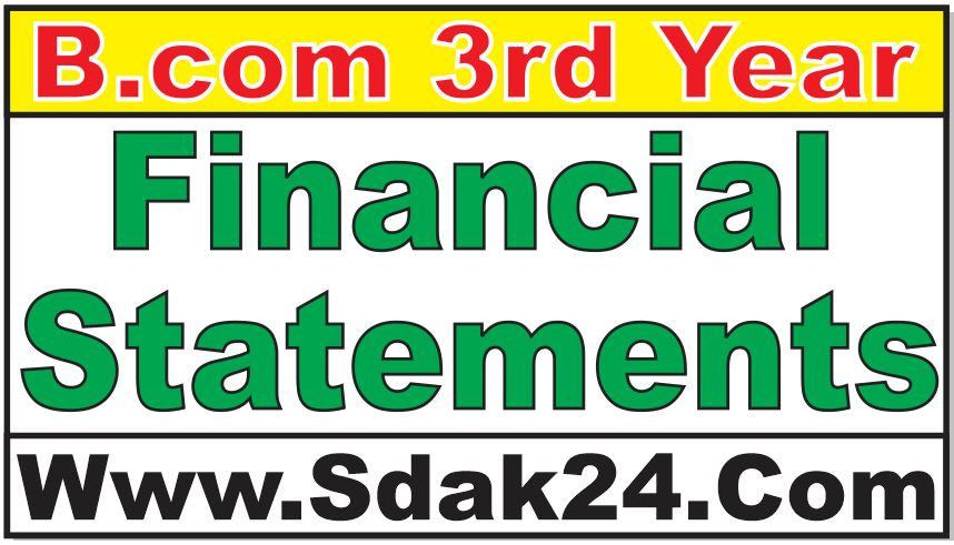 Financial Statements Bcom Notes