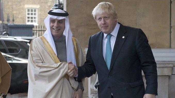 وزيرا الخارجية السعودي والبريطاني