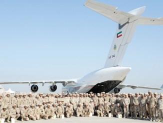 ضباط مشاركون في تمرين سور الخليج