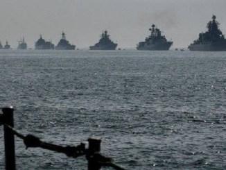 لقطة للقطع البحرية الروسية
