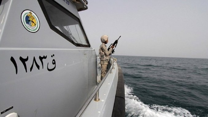جندي سعودي خلال مناورات