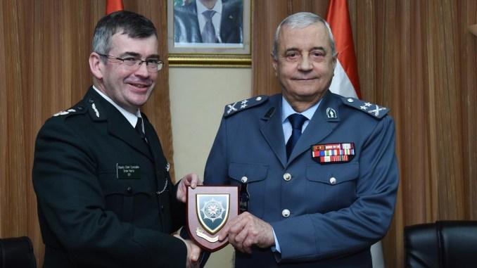 اللواء إبراهيم بصبوص و نائب رئيس شرطة ايرلندا الشمالية Andrew Harris
