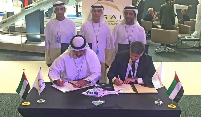 توقيع الإتفاقية بين ليوناردو وشركة طيران أبوظبي