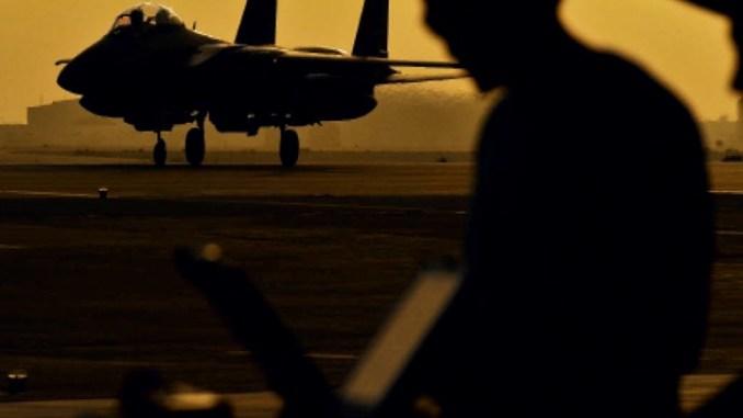 مقاتلة أف-15 تابعة لسلاح الجو السعودي