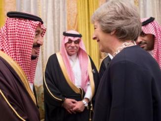 العاهل السعودي ورئيسة بريطانيا