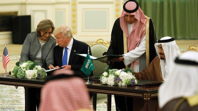 العاهل السعودي والرئيس الأميركي