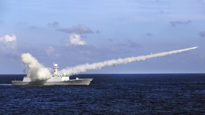 اختبار صاروخ صيني في البحر